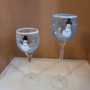 Kirkland's Snowman Tealight Candle Holders